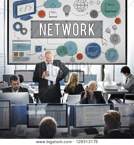Network Connection Internet Online Technology Concept