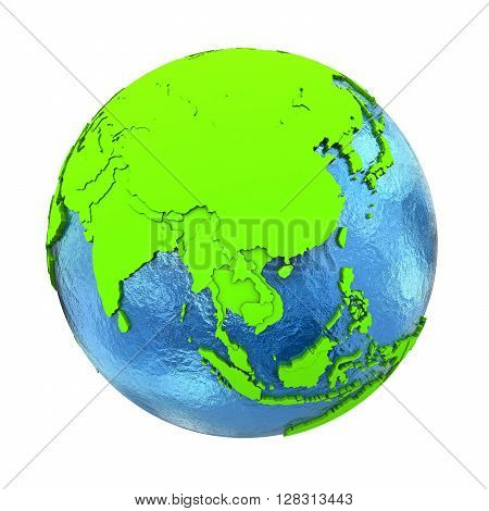 Southeast Asia On Green Earth