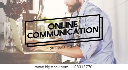 Online Communication Digital Analysing Concept