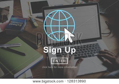 Sign in Sign up Register Homepage Concept