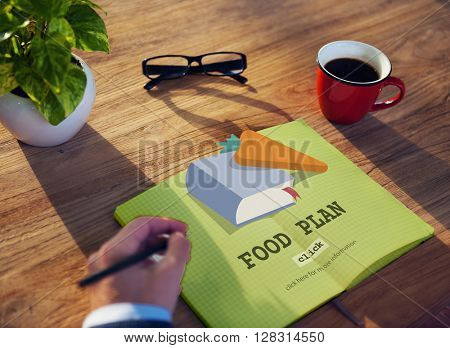 Food Plan Meal Cook Book Concept