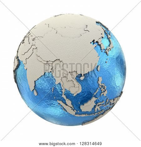 Southeast Asia On Model Of Planet Earth