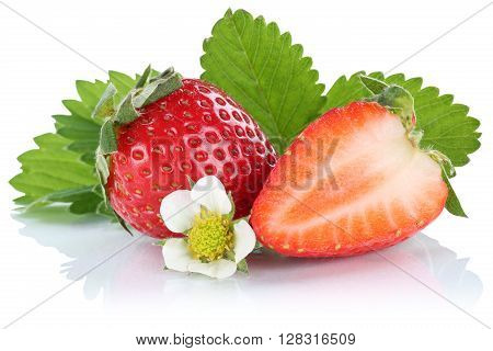 Strawberry Strawberries Berry Berries Fruit Fruits Isolated On White