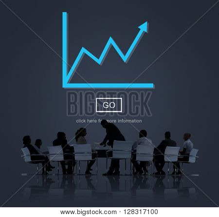 Growth Arrow Business Improvement Success Concept