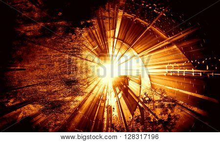 3D gold futuristic background