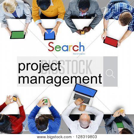 Project Management Organization Planning Process Concept