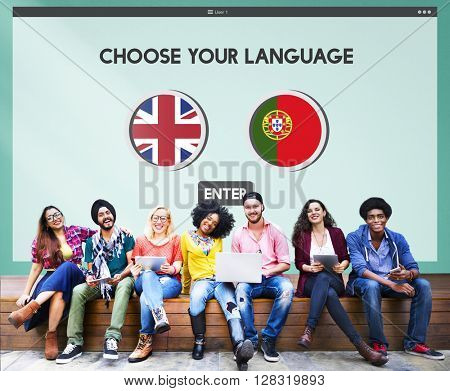 Protugal English Communication Language Concept