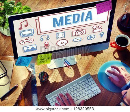 Media Mass Communication Entertainment Multimedia Concept