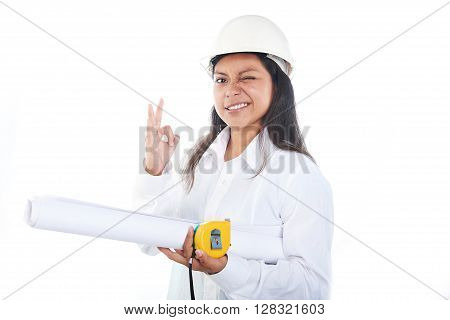 Young Woman Engineer In Hardhat