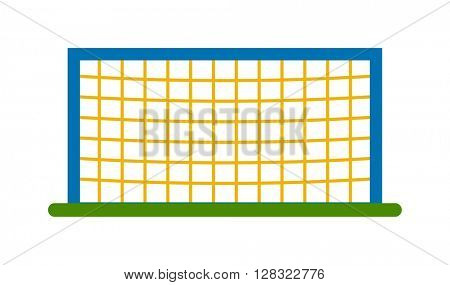Football goal vector illustration.