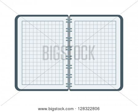 Open notebook vector illustration.