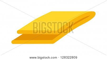 Vector illustration of hand towel cotton textile.