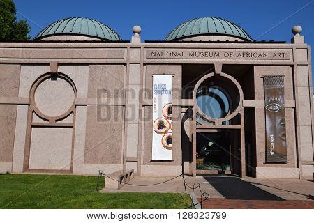 WASHINGTON DC, USA - APR 15 : The National Museum of African Art in Washington, DC, as seen on Apr 15, 2016.  The museum is one of nineteen under the wing of the Smithsonian Institution.