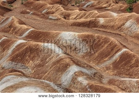 Cheltenham Badlands background is a small example of badlands formation in Caledon, Ontario, Canada