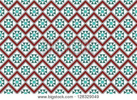 Festive Zig-Zag Mosaic Pattern Gift Wrapping Paper