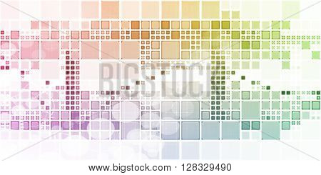 Abstract Squares Background as a Modern Art Concept  3D Illustration Render