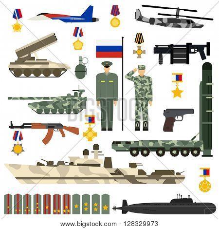 Russian Army vector set.
