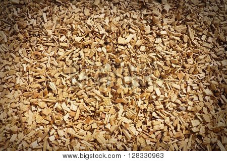 Wood chippings with vignette edges for effect