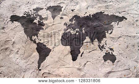 black and beige Map