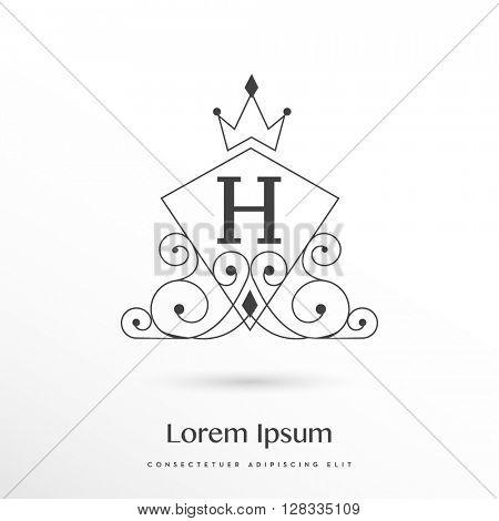 Decorative monogram H logo / icon