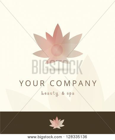 BEAUTIFUL LOTUS FLOWER LOGO / ICON