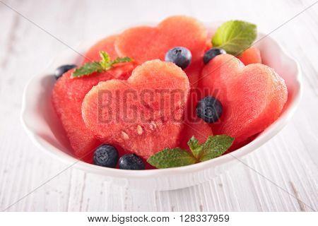 watermelon salad concept