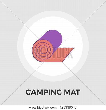 Camping mat icon vector. Flat icon isolated on the white background. Editable EPS file. Vector illustration.