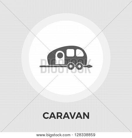 Caravan icon vector. Flat icon isolated on the white background. Editable EPS file. Vector illustration.