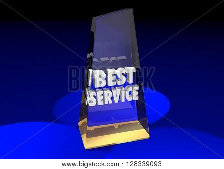 Best Service Award Top Rated Reviewed Business Product 3d Illustration