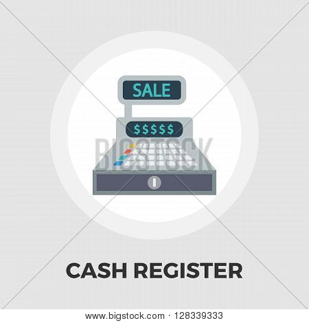 Cash register icon vector. Flat icon isolated on the white background. Editable EPS file. Vector illustration.