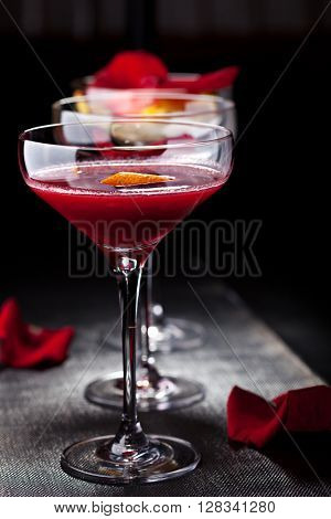 Bitter Sweet Cocktail - Gin, Campari and Berry Syrup