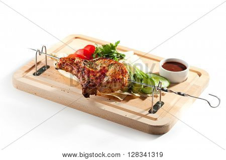 BBQ & Grilled Pork Loin with Vegetables