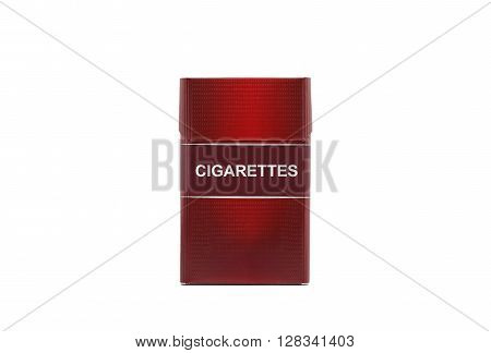 Red cigarette pack that says