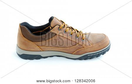isolated male modern style jogging shoes