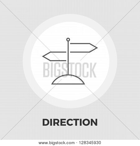 Signpost icon vector. Flat icon isolated on the white background. Editable EPS file. Vector illustration.