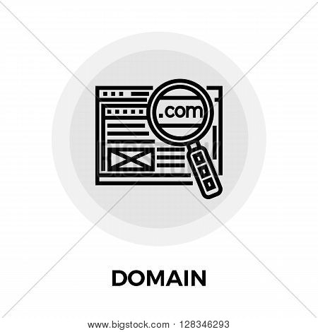 Domain icon vector. Flat icon isolated on the white background. Editable EPS file. Vector illustration.