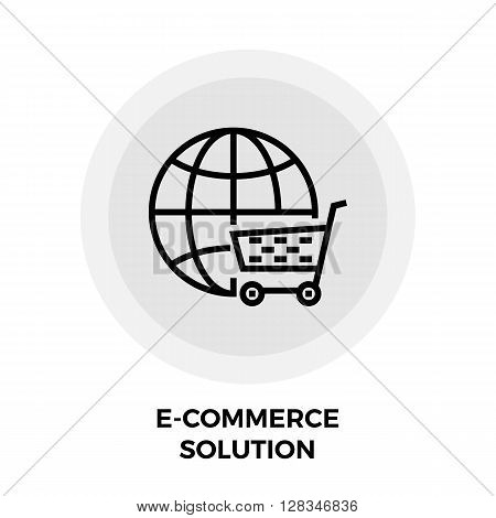 E-commerce Solution icon vector. Flat icon isolated on the white background. Editable EPS file. Vector illustration.
