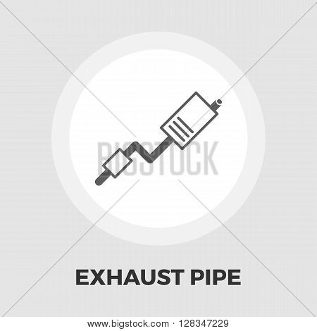 Exhaust pipe icon vector. Flat icon isolated on the white background. Editable EPS file. Vector illustration.