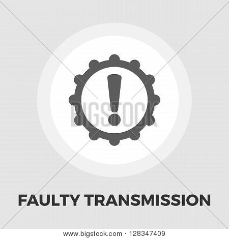 Faulty transmission icon vector. Flat icon isolated on the white background. Editable EPS file. Vector illustration.