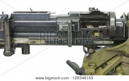 guns of World War I and the machine gun on a white background