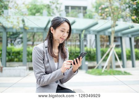 Businesswoman use of smart phone
