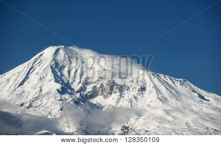 Ararat mountain in Turkey, view from Armenia