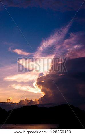 Fiery Backdrop Darkening Heavens