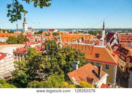 View On Tallinn Old Town, Estonia