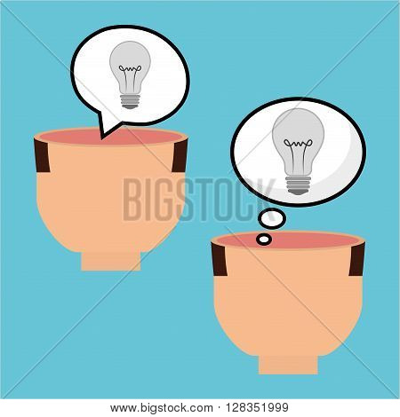 Think postive concept with icon design, vector illustration 10 eps graphic.