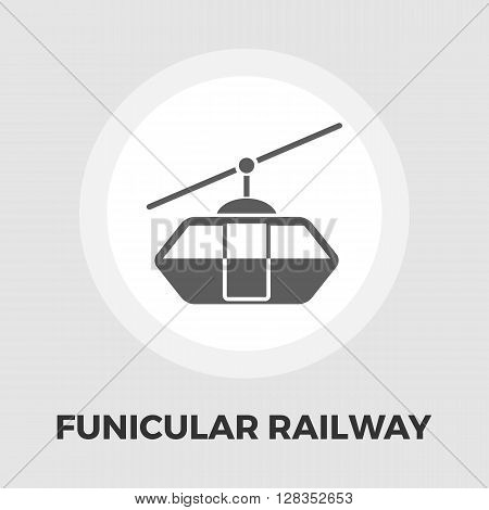 Funicular railway icon vector. Flat icon isolated on the white background. Editable EPS file. Vector illustration.