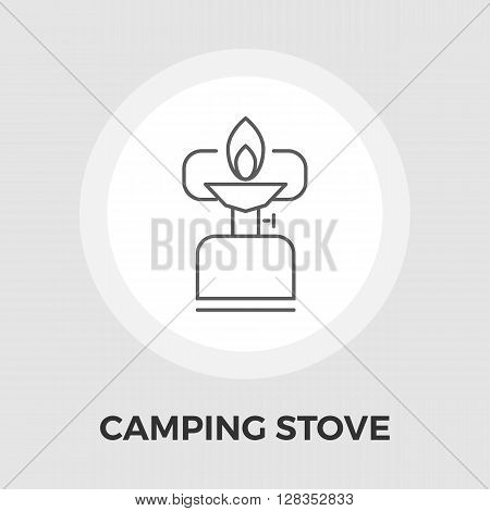 Camping stove icon vector. Flat icon isolated on the white background. Editable EPS file. Vector illustration.