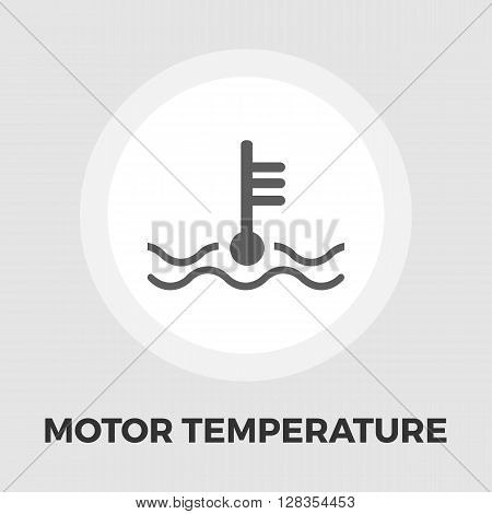 Motor temperature icon vector. Flat icon isolated on the white background. Editable EPS file. Vector illustration.
