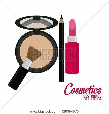 Cosmetic concept with icon design, vector illustration 10 eps graphic.