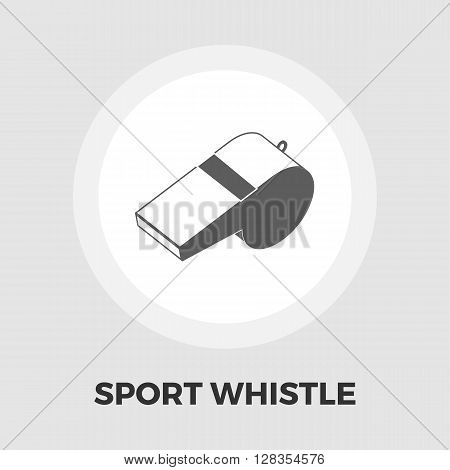 Sports whistle icon vector. Flat icon isolated on the white background. Editable EPS file. Vector illustration.
